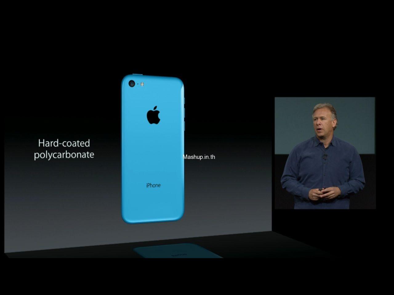 วัสดุของ iPhone 5C ทำจาก Hard Coated Polycarbornate