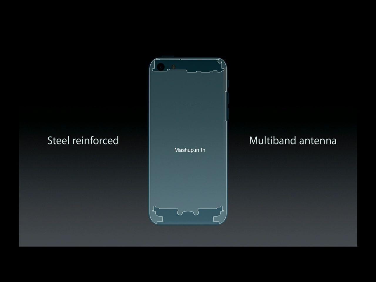 ด้านใน ของ iPhone 5C ก็ยังเป็นเหล็กนะ