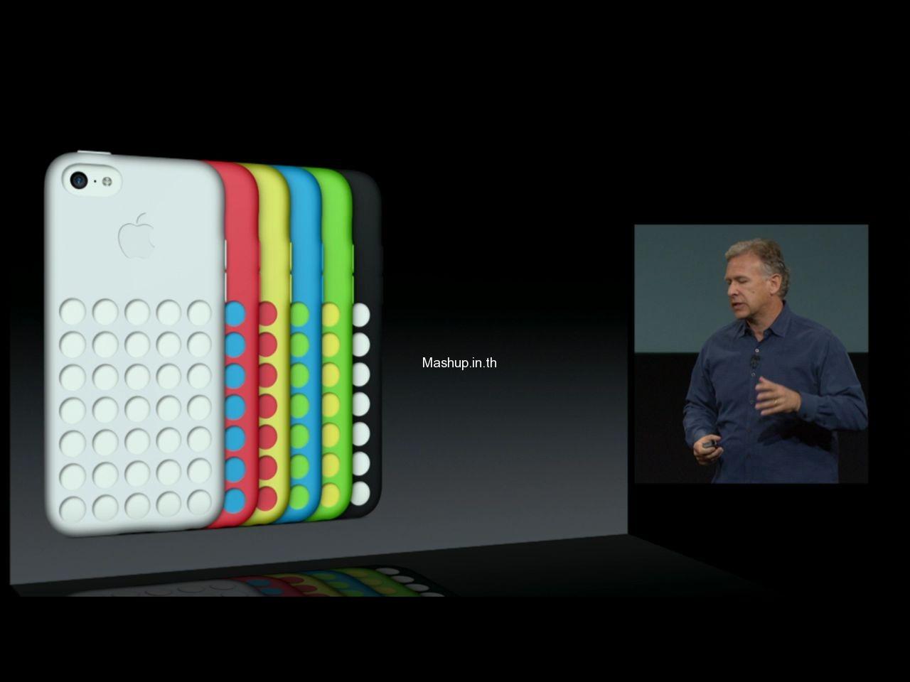 iPhone 5C มาพร้อมกับเคส 6 สี