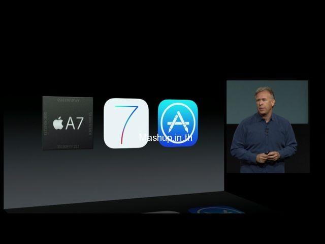 ผสาน 3  พลัง CPU A7, iOS 7 และ Application แบบใหม่ 64 Bit
