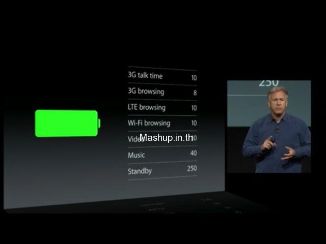 ความอึดของแบตเตอรี่ iPhone 5S