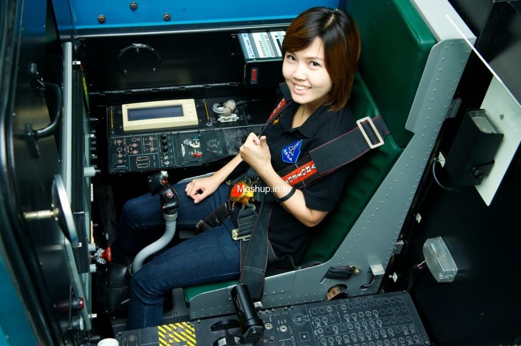 มิ้ง พิรดา เตชะวิจิตร์ ขณะเตรียมความพร้อมกับกองทัพอากาศไทย